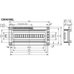 Wyświetlacz LCD 1*16 CM1610SL