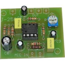 J-250 Przedwzmacniacz do mikrofonu elektretowego - KIT