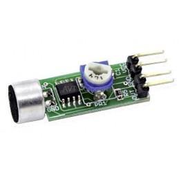 AVT1721B Miniaturowy wzmacniacz mikrofonowy - KIT