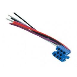 Złącze MINI-ISO wtyk niebieski+przewody - 0436 - 1652