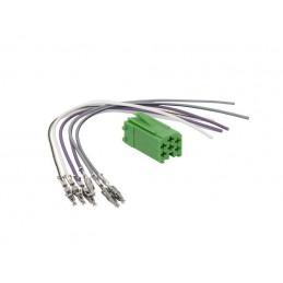 Złącze MINI-ISO wtyk zielony+przewody - 0079 - ZRS-ISO-3-Z