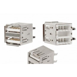 Gniazdo USB A do montażu podwójne - LX 8388B