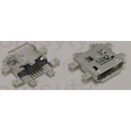 Gniazdo micro-USB 5-pin + 6-nóg montaż środkowy / 0342