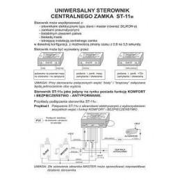 Sterownik uniwersalny centralnego zamka ST-11