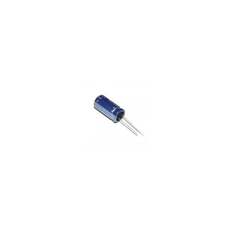 Kondensator 2,2uF/63V elektrolit 105st.c 2,2/63