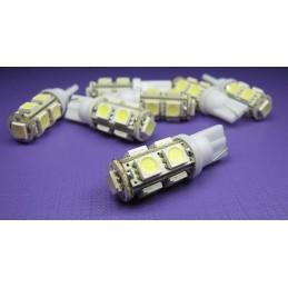 Żarówka LED R-10 12V biała 9xLED 5050 - 3080 lvt