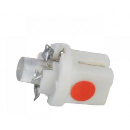 Żarówka LED B8,5d w oprawce czerwona - ZAR0080