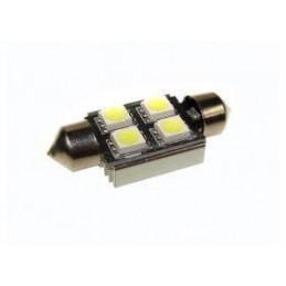 Żarówka rurkowa LEDx4 36mm 5050 12V biała CANBUS - 1589