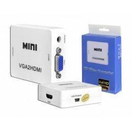 Konwerter VGA+jack 3,5 na HDMI /  LxHD113
