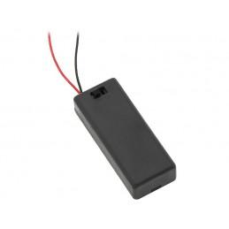 Koszyk baterii R3x2 II z wyłącznikiem i pokrywką