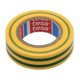 Taśma izolacyjna TESA PVC 20m/19mm żółto-zielona