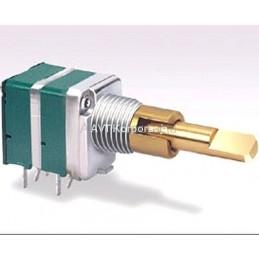 Potencjometr 2x50k/A liniowy z podwójną ośką / P2X50K/B 9MM