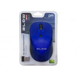 Mysz bezprzewodowa optyczna BLOW MB-10 niebieska / 84-004