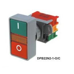 Przełącznik DPB22N2-1-O/C podwójny monostab. podświetlany 230V