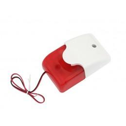 Sygnalizator optyczno-akustyczny AS7015 (czerwony) / 26-415