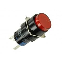Przełącznik przycisk LAS1-AY-11Z/R/12V ON-ON czerwony podświetlany / 11153
