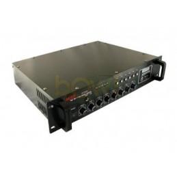Wzmacniacz radiowęzłowy PA ZB1006SD 100W USB+SD+FM 6-strefowy / 004386