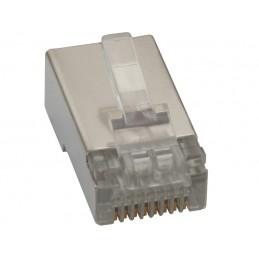 Wtyk telefoniczny 8p8c RJ45 metal-ekranowany