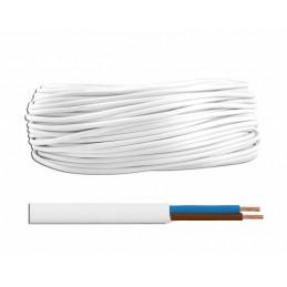 Przewód OMYp 2x1,5 300/300V biały płaski