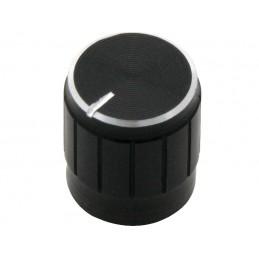 Gałka czarna śred. 15mm oś 6mm / 8161