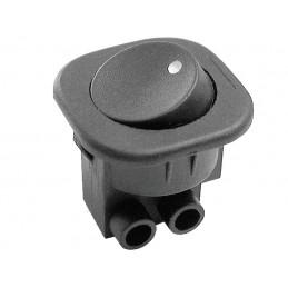 Przełącznik klawisz XL-107-7C styki srubowe okrągły czarny ON/OFF 6A/250V / 0579