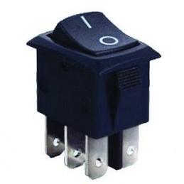 Przełącznik klawisz MRS202-3C3b 6-pin 2-poz 2-tory mały czarny
