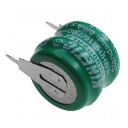 Akumulator 2,4V 80mAh NiMH 2piny fi15,6 (22,2)x12,4mm
