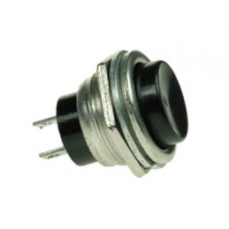 Przełącznik przycisk PBS26B OFF(ON) chwilowy okrągły czarny 2A/250V