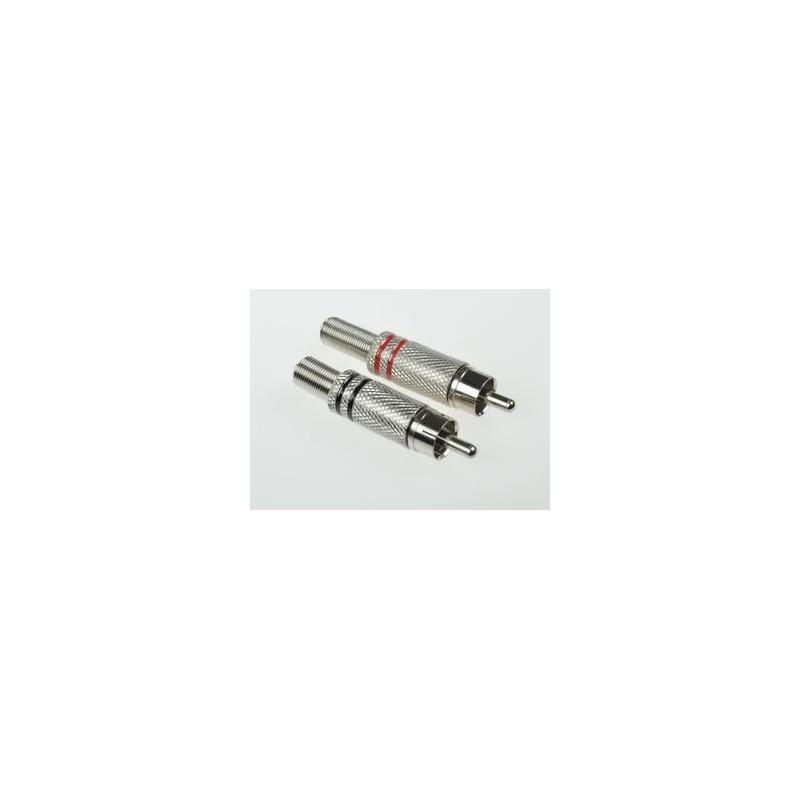 07d635d0cfc972 Wtyk RCA na kabel metal