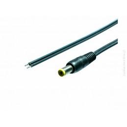 Wtyk DC 5,5/2,1 prosty z przewodem 1,5m / Kab-1.5mWT2.1/S