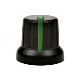 Gałka N-4 znacznik zielony oś 6mm