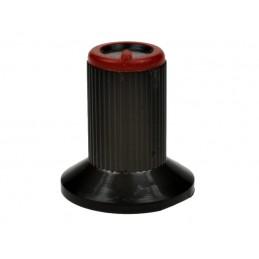 Gałka N-0 znacznik czerwony oś 4mm - 13622