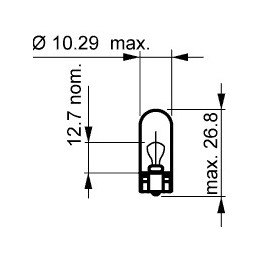 Żarówka R-10 12V 3W (W3W) OSRAM 2821