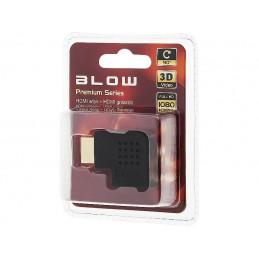 Przejście wt.HDMI-gn.HDMI kątowe boczne/ 92-116