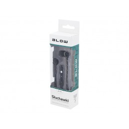 Słuchawki BLOW B-100 douszne plecionka black / 32-810