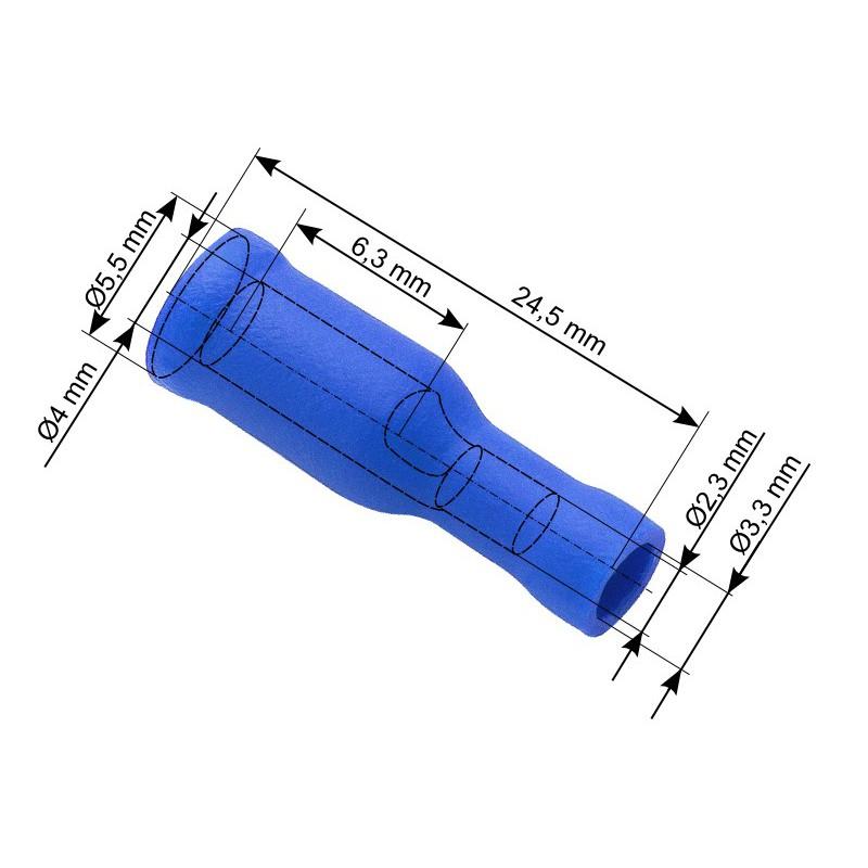 Konektor 4mm gniazdo okrągłe izolowane