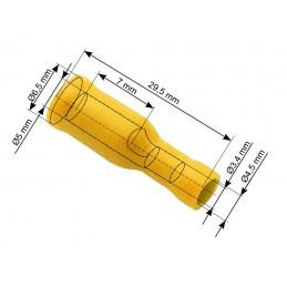 Konektor 5mm gniazdo okrągłe izolowane
