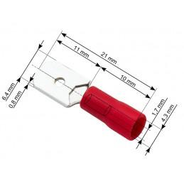 Konektor 6,3mm wtyk płaski izolowany - 601016
