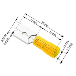 Konektor 6,3mm wtyk płaski...