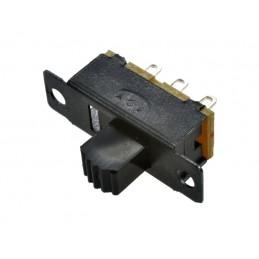 Przełącznik suwakowy SS12F13-GBR6 6mm 2-pozycyjny przykręcany