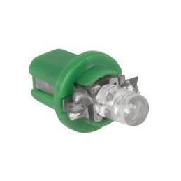 Żarówka LED B8,5d w oprawce zielona / ZAR0082