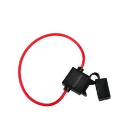 Gniazdo bezpiecznika nożowego na kablu (20mm) 30cm 1,5mm / GNI0131-1