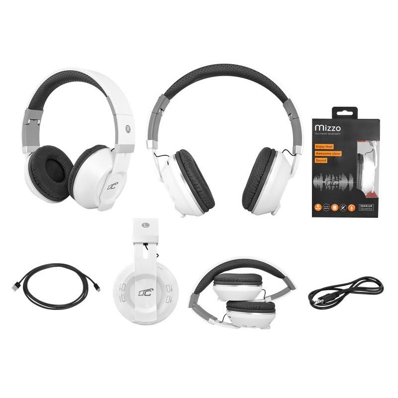 Słuchawki bluetooth nauszne LTC MIZZO białe LxBT1000