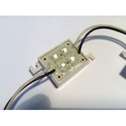 Moduł LED 4xFLUX zielony wodoodporny 12V 40mA / EEC SS-Q4G