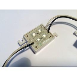 Moduł LED 4xFLUX niebieski wodoodporny 12V 40mA / EEC SS-Q4B