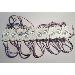 Moduł LED 35x18x7mm biała zimny 6500K IP65 170st. 12VDC 0,4W / Sub Lens 1White
