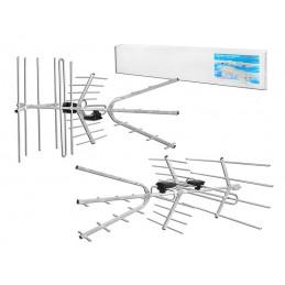 Antena TV VHF/UHF DVB-T polaryzacja pion/pozim+zwrotnica TRIA-MAX / LxDVBT50
