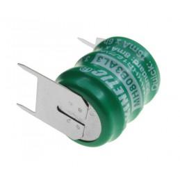 Akumulator 3,6V 80mAh NiMH 3piny fi15,6 (21)x19,2mm zielony - 10252