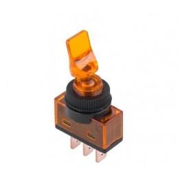 Przełącznik hebelkowy ON-OFF LED12V LIZAK ASW-14D żółty / PRK0016E