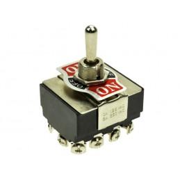 Przełącznik hebelkowy KN3(B)-403A 3-poz 4-tory ON-OFF-ON 6A 250V / 23367